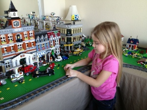 Emmy playing in Lego Land